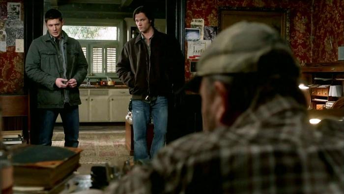 Dean et Sam face à un Bobby déprimé